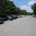 上大島キャンプ場 駐車場は200台可