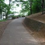 久保山公園 丘から降りる坂道