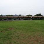 大塚公園 BBQ施設は広い草地広場の横に