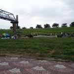 荒川岩淵関緑地 BBQエリアの光景