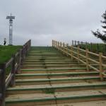 荒川岩淵関緑地 駐車場から土手へと続く階段