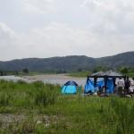 福生南公園 河川敷でもBBQが楽しめます。
