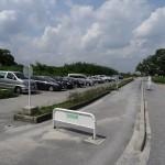福生南公園 BBQ施設前までお車で移動できます。