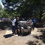 小金井公園 水道での一コマ