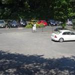 望地弁天キャンプ場 駐車場1