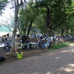 武蔵野中央公園 BBQの様子