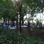 武蔵野中央公園 バーベキューエリアの光景