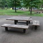 武蔵野公園 テーブルとイス