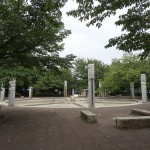 武蔵野公園 噴水 夏季は水遊びを