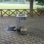 秋留台公園 芝生広場の水道はこちらのみです。