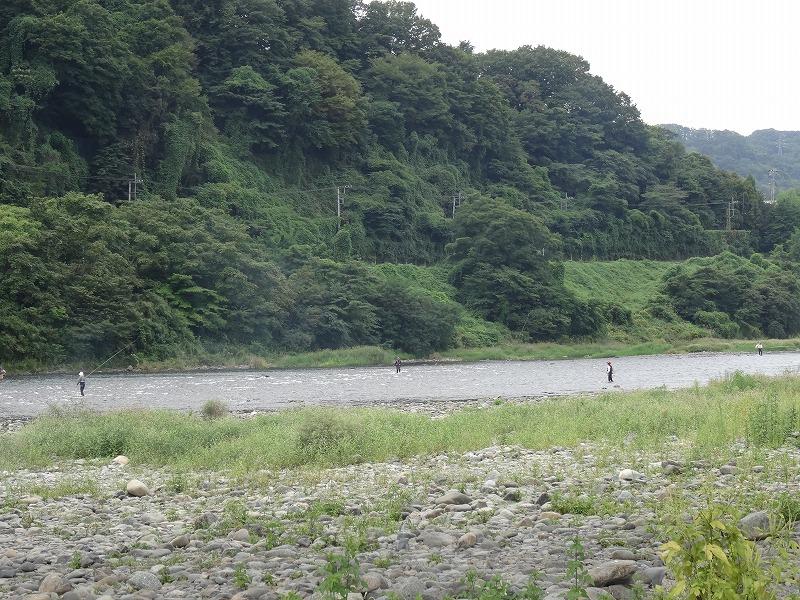 高田橋河川敷 相模川の風景