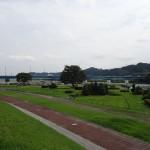 高田橋河川敷 土手からの眺め
