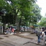 富士森公園 浅間神社前フリーマーケット