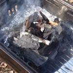 着火剤なしで炭に火を着ける方法を試してみました