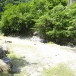 足柄大滝キャンプ場 砂利道