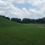 永田公園 ソリ滑り出来る丘