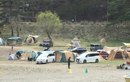 精進湖キャンプコテージキャンプサイト