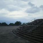 山梨県笛吹川フルーツ公園入口広場