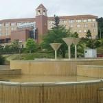 山梨県笛吹川フルーツ公園噴水広場