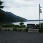 キャンプ場からの西湖