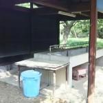 西湖キャンプ場テント村炊事場