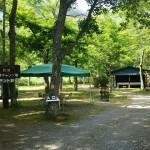西湖キャンプ場テント村キャンプ場内