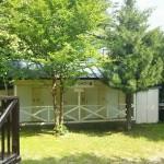 西湖キャンプ場テント村シャワー室