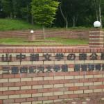 村営山中湖キャンプ場入口施設看板