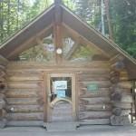 自然暮らし体験村清水国明の森と湖の楽園本人が最初に立てたログハウス