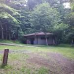 村営山中湖キャンプ場水場建物