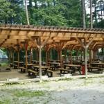 自然暮らし体験村清水国明の森と湖の楽園250人収容BBQ場